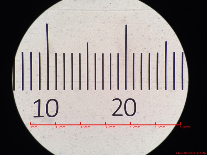 Get the software scale-bar calibrated with µRuler