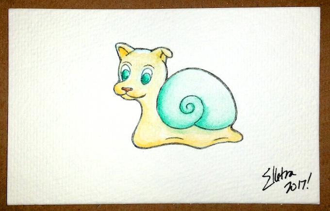 "Snog Watercolor Original 4""x6"""