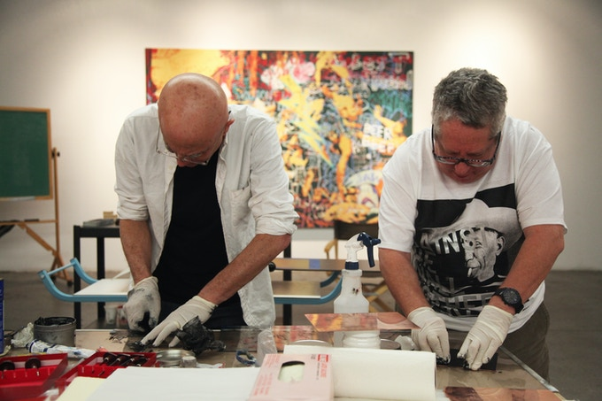 Pledge $1,000 - Join us at an upcoming printmaking party where you'll meet participating artists and learn to make your own copper plate print that we'll get framed for you!