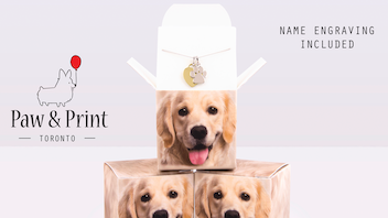 Paw and Print Charm Necklace