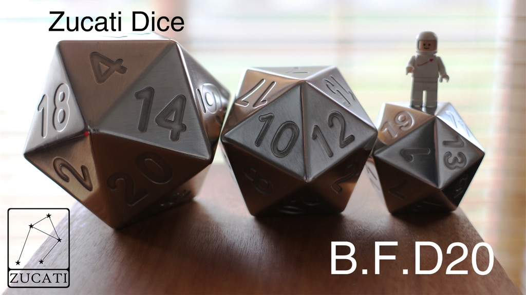 Zucati Dice: EleMetal B.F.D20 - Giant Polyhedral Die project video thumbnail