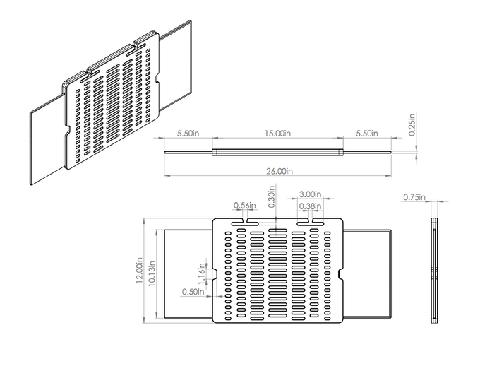 Manufacturing Dimensions of TabBord