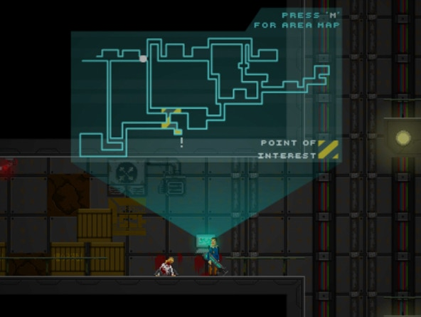 The current game map including only 2 floors.