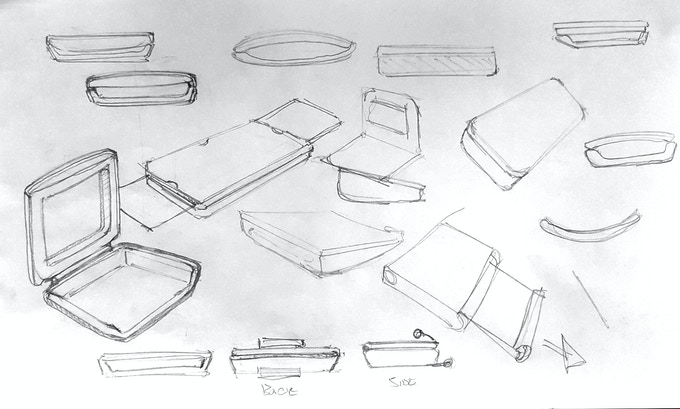 Early Engineering Sketches of SatchelBord