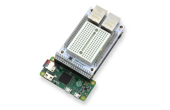 Raspberry Pi to DE0 Nano connector top view