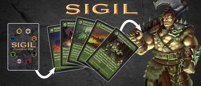 Using their powerful Warlord and a pre-built custom deck of cards, players can play powerful spells, stunt their opponent with crippling auras, and summon units to fight for their Sigil.