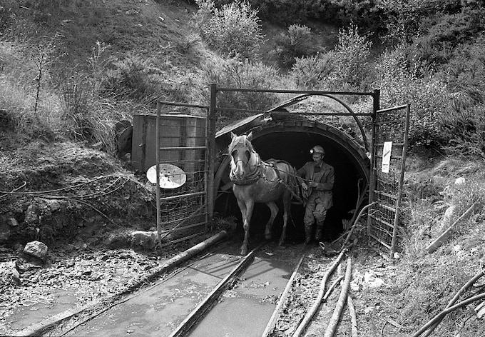 Private drift mine, near Pontypool, 1983