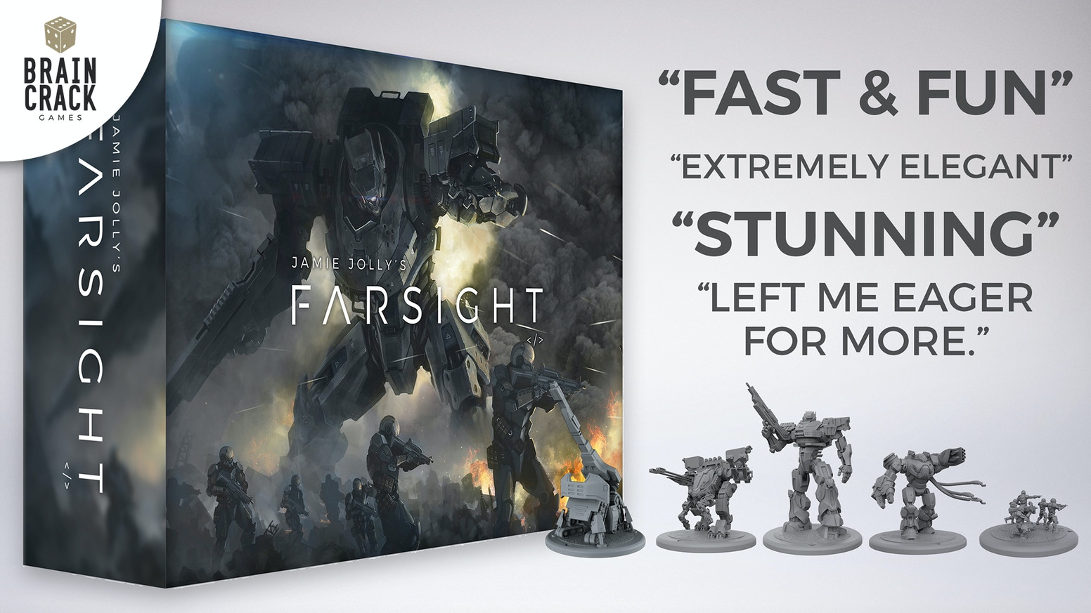 Man and machine fight for dominance in this epic sci-fi strategy game with optional scale miniature sets.