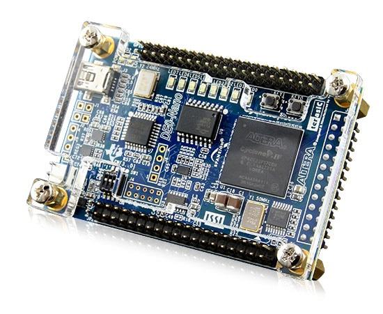 DE0 Nano. FPGA-Evaluation-Board developed by Terasic Inc.
