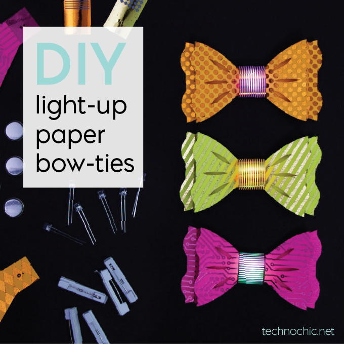 Diy light up bow ties overview my new light up paper bow tie kits come in packs of 10 so theyre perfect for parties events and education however you use them i promise they will be solutioingenieria Choice Image