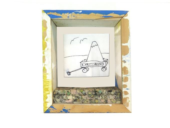 ***SOLD OUT -- SEE NEW REWARD AT $500 BELOW*** Pledge $200 - Hand-drawn bar napkin in unique shadow box by The Bruce High Quality Foundation. No two drawings or shadow boxes are alike!
