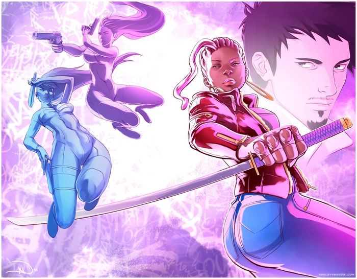 Promo piece for DZIVA JONES, written by Aminah Amour, illustrated by Ashley A. Woods.