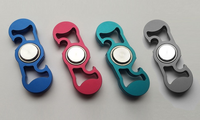 The affordable, addictive hand spinner machined from solid aluminum and built with high-quality skateboard bearings. Now Shipping