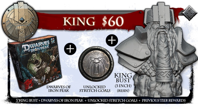 This reward comes with a 3 inch King Khorum resin bust!