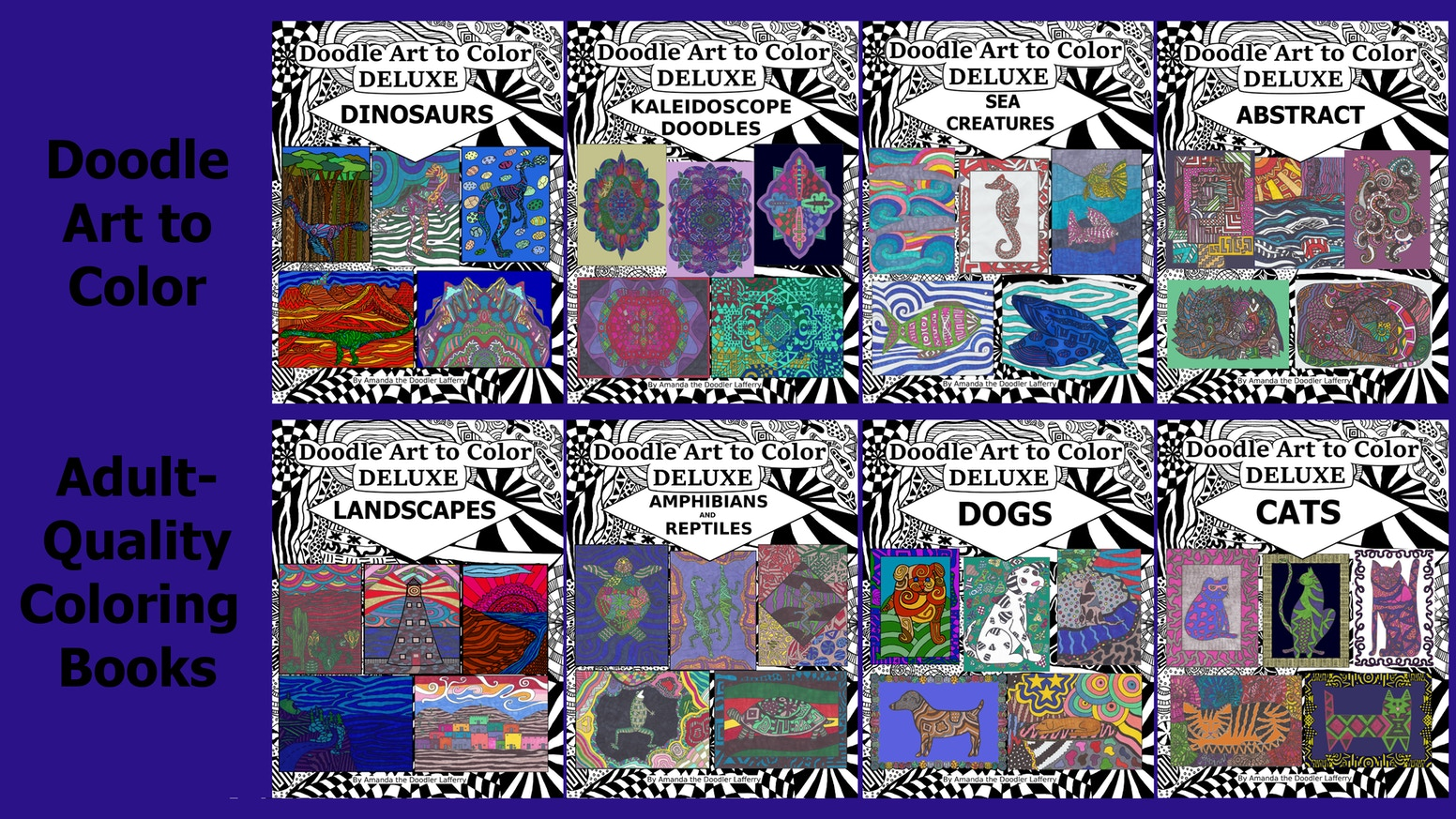Doodle Art To Color Is A Series Of Adult Quality Coloring Books Featuring Cats Dogs Lizards Turtles Landscapes Dinosaurs And More