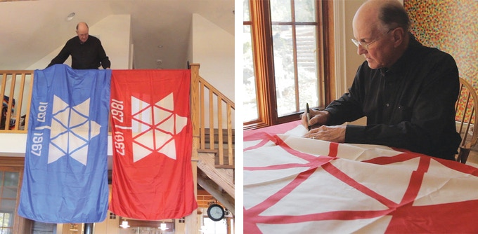 1967 Canadian Centennial Flag, Signed by Stuart Ash