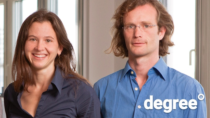 Greta and Johannes Kreuzer, parents of three and founder of degree°