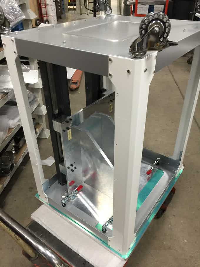Frames are built on our custom assembly jig to ensure accuracy