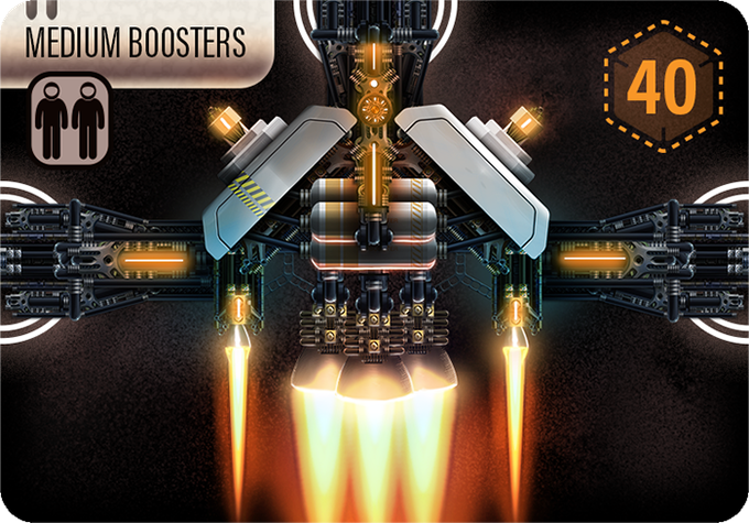 These Medium Boosters, though not as powerful as the Monster Boosters you may find, are much sought after for their solid performance and versatile connections.