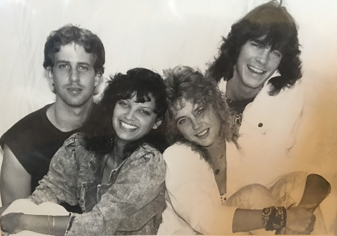 Me, age 19, with my first band, WinterRose (Monica Kennedy, Phil Taccetta & Norman Voss).
