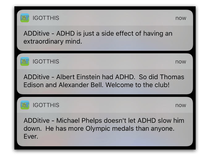 ADDitives via In-App Notifications