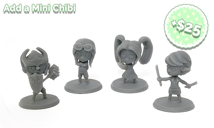 Add $25 to your pledge for each additional Mini Chibi you'd like!