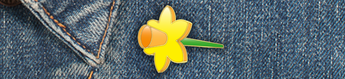 Pledge $25 - You will receive a commemorative Giant Flowers enamel pin