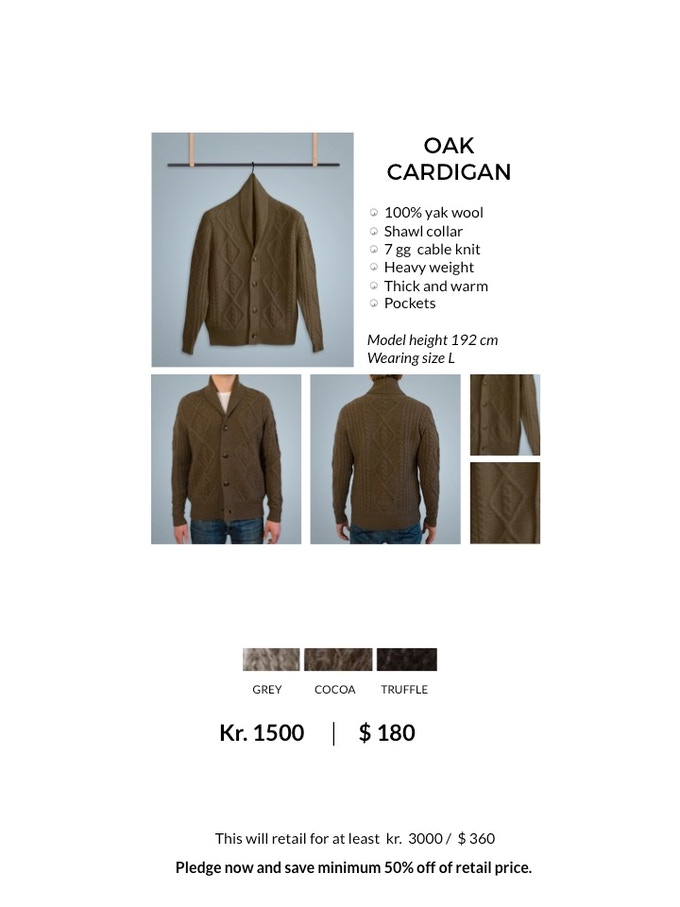 OAK Shawl Cardigan