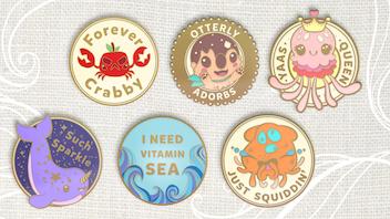 All in Good Pun - Cute Ocean-Themed Enamel Pins