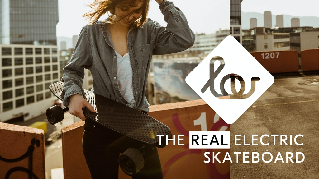 Meet Lou: The REAL Electric Skateboard. She's a sure thing. project video thumbnail