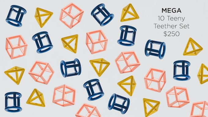 Ten Teeny Teether sets for you to do as you please. Make a mega set, give them as gifts for parties, sell them at your boutique store, or we can even donate them to an organization of your choice.