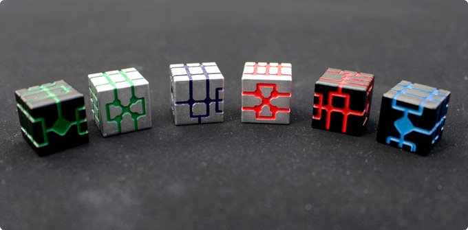 All color combinations of Ortery dices