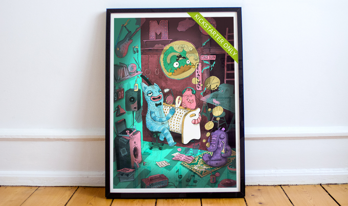 Our band is already super famous and now they have their own poster. It's a special limited Kickstarter edition! Hand painted by Luiza Kwiatkowska.