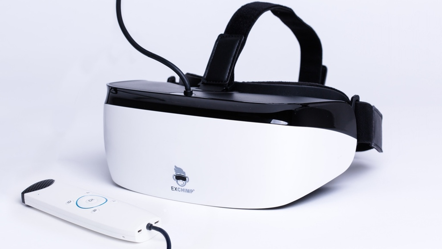 Bridging the gap between low-cost and high-end virtual reality headset with QHD display and hand held controller.