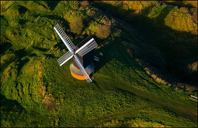 Brill Windmill aerial view
