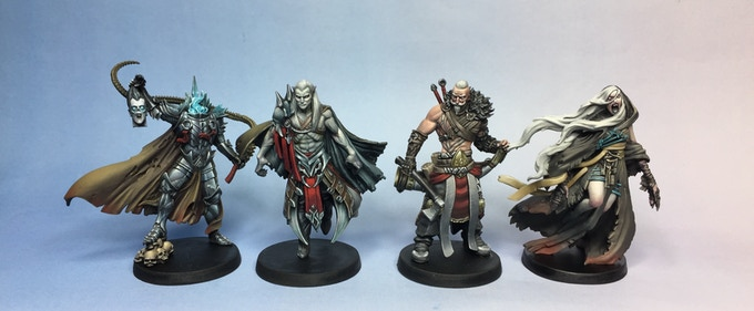 Resin miniatures painted by Rogland Studios