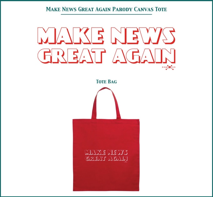 Make News Great Again Canvas Tote Bag