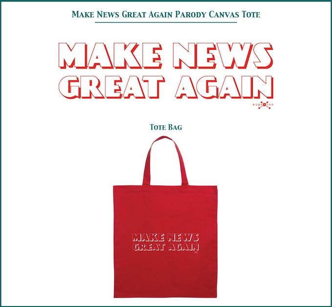 Make News Great Again Canvas Tote Bag