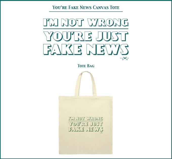 You're Fake News Canvas Tote Bag