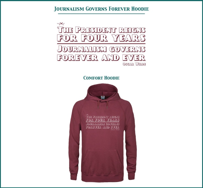 Journalism Governs Forever Lightweight Hoodie