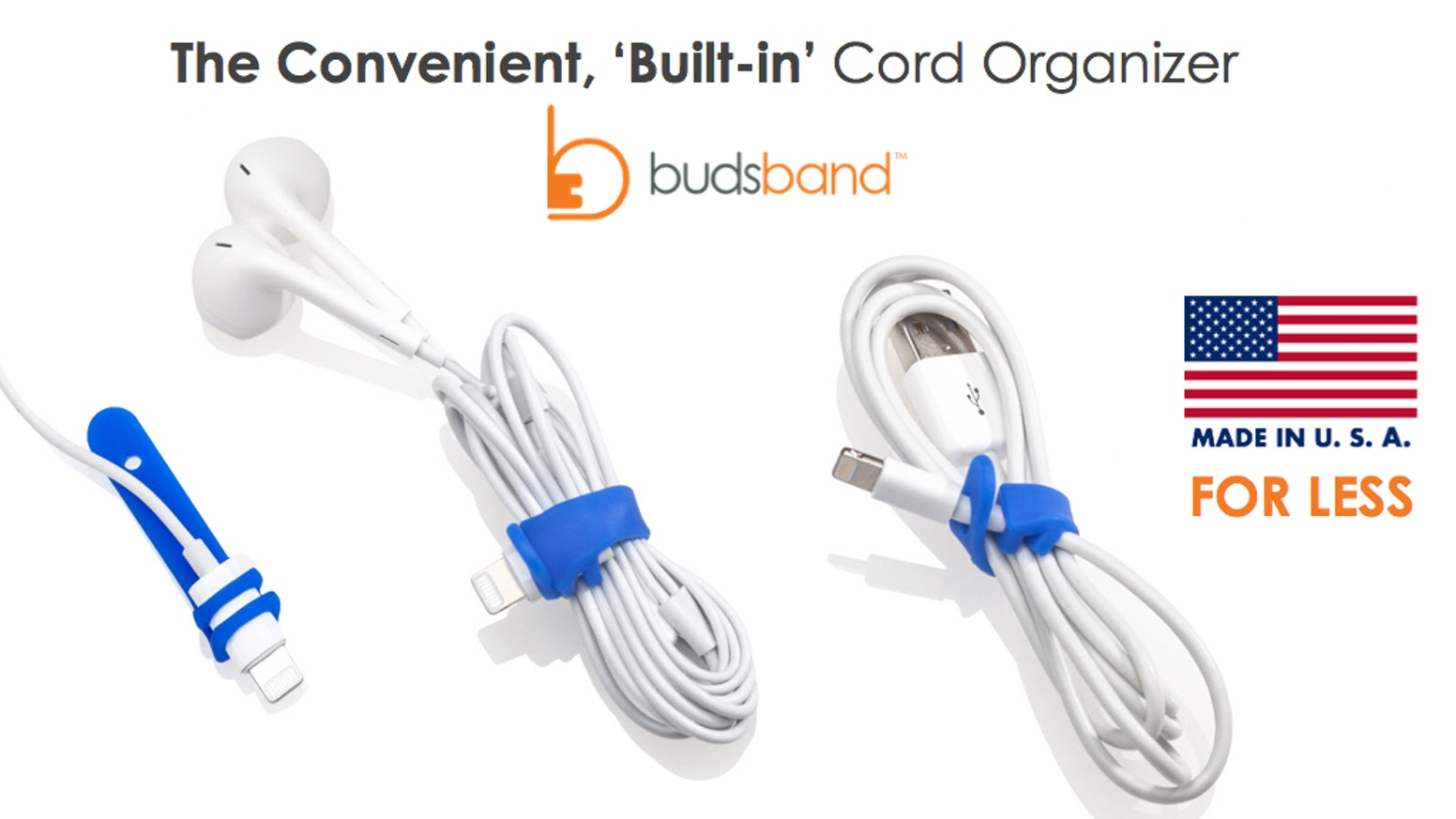 Budsband 2.0 - The Convenient Cord Organizer - Made in USA