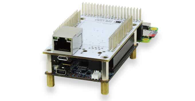 Configuration B. Connector with one network interface. Bread board is included but not shown!
