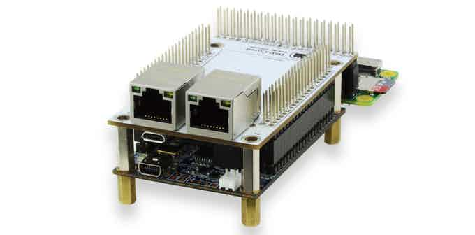 Configuration C. Connector with two network interfaces. Bread board is included but not shown!