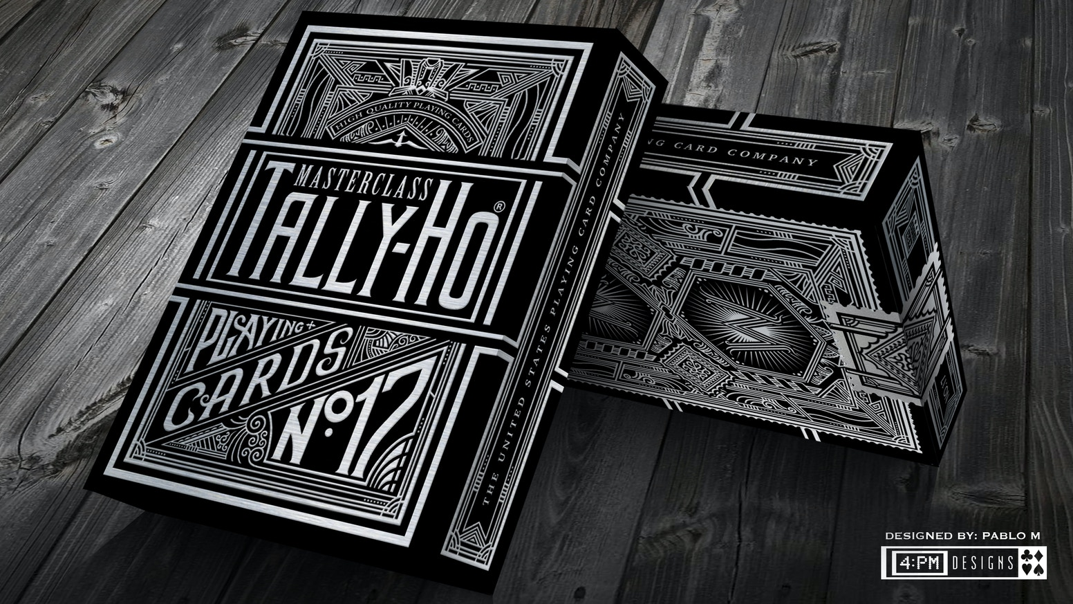 A modification of a classic brand, the Master Class Tally Ho are a set of limited edition decks printed by US Playing Cards Company.