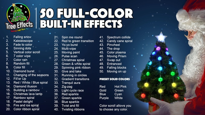 Tree Effects has 50 amazing full-color effects built-in. Check out our gallery to see the effects in action.