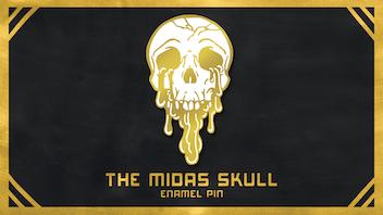 Midas Skull Enamel Pin