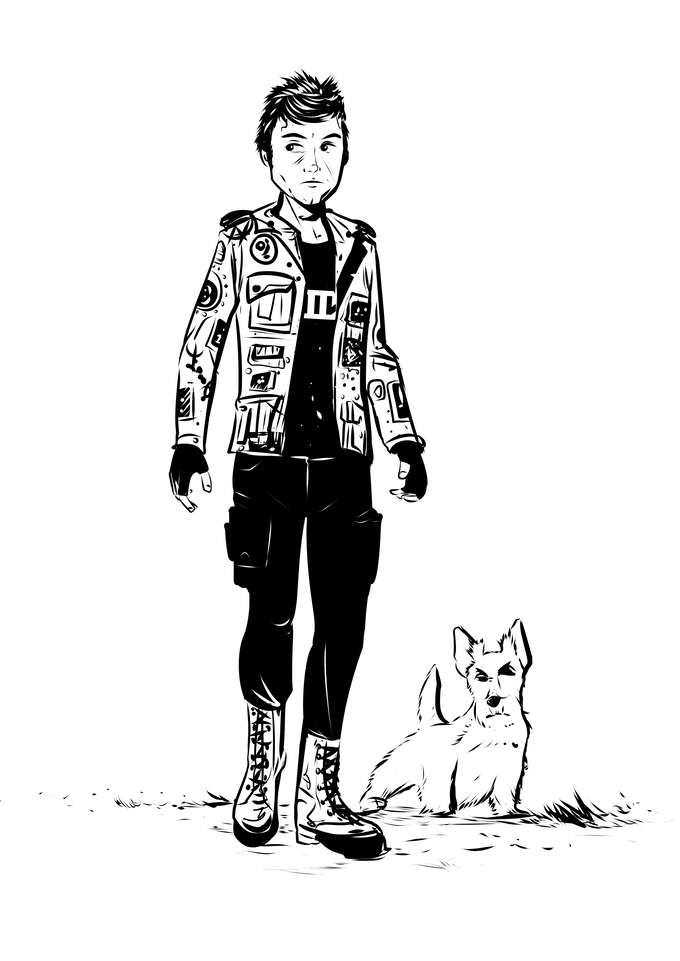 A boy and his dog? Or a Jinn-bound street magician and its familiar?