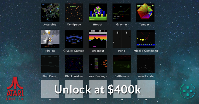 Mini games unlocked to date