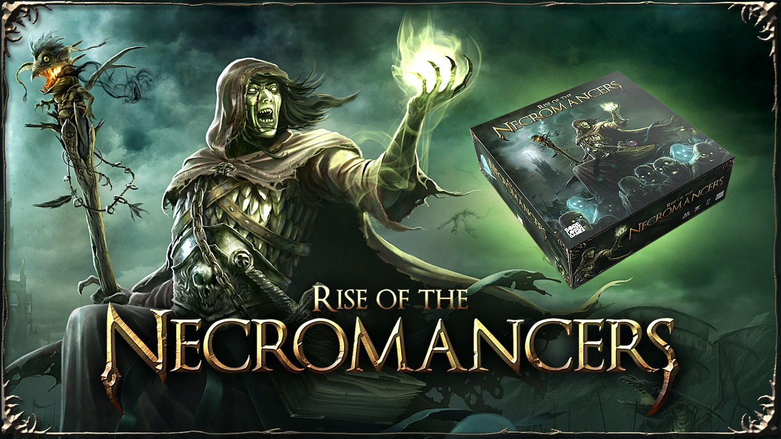 A strategy boardgame for 2-5 players, where each player controls a Necromancer struggling for absolute dominance.