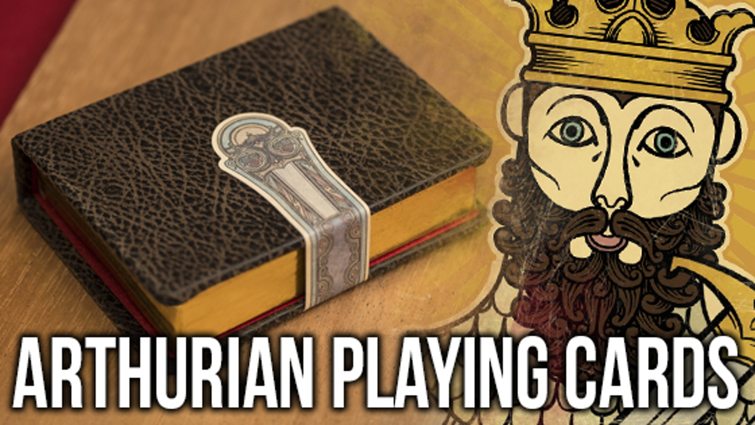 The Arthurian is a luxury deck of playing cards inspired by the King Arthur Legend illustrated in the style of The Book of Kells.
